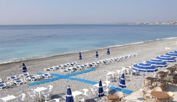 Strand in Nizza